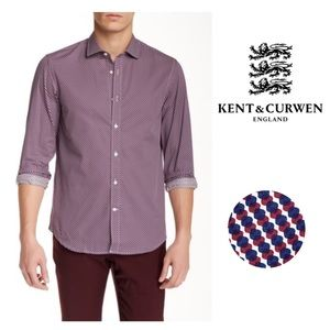Kent and Curwen Tailored Fit Mini Dots Print